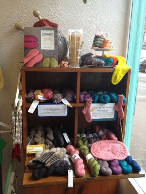 A lovely display of unique yarns, including some Cashmere from Afghanistan.