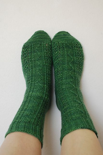 Zig-Zag Spring Socks by Judy George