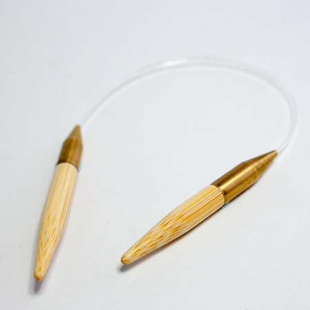 Kinki Amibari Asymmetric Circular Needle. Photo copyright Tangled Yarn, used with permission.